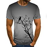 abordables -Homme T-shirt Paysage Bloc de Couleur 3D Grandes Tailles Imprimé Manches Courtes Quotidien Hauts basique Exagéré Gris