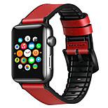 economico -Cinturino intelligente per Apple  iWatch 1 pcs Chiusura classica Banda di affari Silicone Vera pelle Sostituzione Custodia con cinturino a strappo per Apple Watch  6 / SE / 5/4/3/2/1 38 millimetri 40