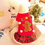 economico -Prodotti per cani Prodotti per gatti Animali domestici Costumi Bandane e cappelli Sciarpa per cani A quadri Natale Cosplay Natale Inverno Abbigliamento per cani Vestiti del cucciolo Abiti per cani