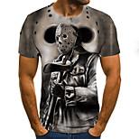 abordables -Homme T-shirt Géométrique 3D Grandes Tailles Imprimé Manches Courtes Quotidien Hauts basique Chic de Rue Gris