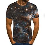 abordables -Homme T-shirt Pois Bloc de Couleur 3D Grandes Tailles Imprimé Manches Courtes Quotidien Hauts basique Exagéré Arc-en-ciel