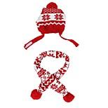 economico -Prodotti per cani Bandane e cappelli Sciarpa per cani Vestiti del cucciolo A strisce Cosplay Natale Inverno Abbigliamento per cani Vestiti del cucciolo Abiti per cani Tenere al caldo Rosso Costume