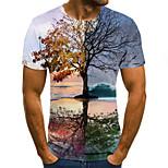 economico -Per uomo maglietta 3D Con stampe Manica corta Quotidiano Top Arcobaleno