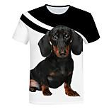 abordables -Homme T-shirt Géométrique Grandes Tailles Imprimé Manches Courtes Quotidien Hauts basique Chic de Rue Blanche
