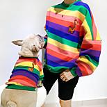 economico -Prodotti per cani T-shirt Abiti abbinati A strisce Animali Cervo A strisce Fantasia animale Sport Casual Inverno Abbigliamento per cani Vestiti del cucciolo Abiti per cani Molto spesso Rosso Blu