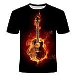 abordables -Homme T-shirt Géométrique Grandes Tailles Imprimé Manches Courtes Quotidien Hauts basique Chic de Rue Noir