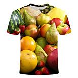 abordables -Homme T-shirt Géométrique Grandes Tailles Imprimé Manches Courtes Quotidien Hauts basique Chic de Rue Jaune