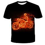 economico -Per uomo maglietta 3D Animali Con stampe Manica corta Quotidiano Top Moda città Esagerato Nero