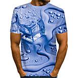 abordables -Homme T-shirt 3D Manches Courtes Quotidien Hauts basique Arc-en-ciel
