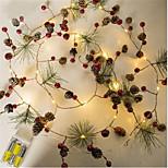 abordables -2m Guirlandes Lumineuses 20 LED Blanc Chaud La Saint-Valentin Noël Design nouveau Soirée Décorative Piles AA alimentées