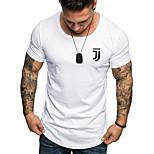 abordables -Homme T-shirt Graphique Couleur Pleine Imprimé Manches Courtes Quotidien Hauts Coton Entreprise basique Blanche Noir Kaki