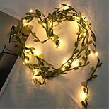 abordables -5m Guirlandes Lumineuses 50 LED Blanc Chaud La Saint-Valentin jour de Pâques Soirée Décorative Vacances Piles AA alimentées