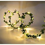 economico -2m Fili luminosi 20 LED SMD 0603 1pc Bianco caldo giorno del Ringraziamento Natale Impermeabile Feste Decorativo Alimentazione USB Batterie alimentate