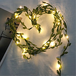 abordables -guirlande guirlande de lumières décoration de mariage en plein air feuilles vertes guirlandes lumineuses led fil de cuivre plantes artificielles lumières pour mariage décoration de fête à la maison