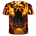 economico -Per uomo maglietta Pop art 3D Animali Con stampe Manica corta Quotidiano Top Moda città Esagerato Arcobaleno