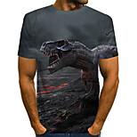 abordables -Homme T-shirt Bloc de Couleur Abstrait 3D Grandes Tailles Imprimé Manches Courtes Quotidien Hauts Chic de Rue Exagéré Gris
