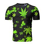 abordables -Homme T-shirt Géométrique Manches Courtes Quotidien Hauts Jaune Vert