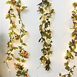 abordables -2,2m Guirlandes Lumineuses 20 LED 1pc Blanc Chaud La Saint-Valentin Noël Soirée Décorative Vacances Piles AA alimentées