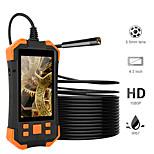 economico -Telecamera endoscopio digitale hd da 2 m 5,5 mm 1080p Telecamera per ispezione video a distanza focale da 4,3 pollici lcd 4 cm-5 m da 4,3 cm con fotocamera a 6 led