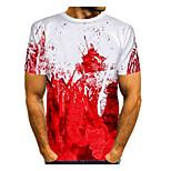 economico -Per uomo maglietta Pop art Con stampe Quotidiano Manica corta Top Essenziale Rosso