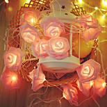 economico -6m 40led fiore rosa rosa led fata luci vacanza stringa luci a batteria san valentino festa di nozze lampada decorazione natalizia senza batteria