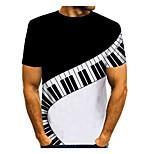 abordables -Homme T-shirt Graphique Imprimé Manches Courtes Quotidien Hauts basique Noir