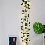 abordables -2m 20 LED Plantes Artificielles Chaîne Feuilles Vert Clair Lierre Vigne Fée Feuilles D'érable Guirlande DIY Décoration Suspendue Pour La Maison De Mariage 1pc 2pcs 4pcs