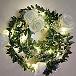 abordables -2pcs 1pc 10 20 40leds rose fleur LED guirlande de fées lumières 1.5m 3m 6m alimenté par batterie mariage Saint Valentin événement fête guirlande décor luminaria
