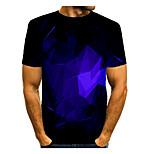 abordables -Homme T-shirt Graphique Manches Courtes Quotidien Hauts basique Elégant Bleu