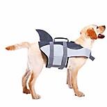 abordables -gilet de sauvetage pour chien ripstop gilet de flottaison pour animaux de compagnie économiseur de maillot de bain préservateur pour la sécurité de l'eau à la piscine, plage, bateau gris