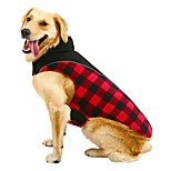 economico -giacca scozzese per cani cappotto riflettente impermeabile reversibile cucciolo di stoffa per il freddo gilet per animali domestici per cani di taglia piccola medio grande rosso l