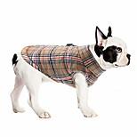 abordables -vestes de chien pour l'hiver manteau de chien imperméable coupe-vent pour le temps froid style britannique plaid chaud chien gilet pour petits chiens de taille moyenne marron 3xl