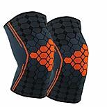 abordables -(2 packs) manchons de renfort de coude pour la course, le fitness, le basket-ball, le volley-ball, le tennis de table, soulagent les dommages musculaires, la tendinite, l'arthrite (orange, très grand)