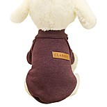 economico -camicia per animali domestici, maglione caldo per cuccioli di animali domestici a 8 colori per cani di piccola taglia, vestiti per camicie da caffè