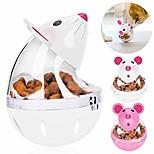 abordables -mangeoire lente pour chat souris boule de nourriture pour chat gouttelettes d'eau en forme de gobelet en forme de gobelet pour animaux de compagnie balle de nourriture pour chat jouet balle balle de
