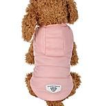 abordables -vêtements pour animaux de compagnie, chiot épaississant duvet manteau pour chien veste d'hiver chaud à capuche (rose)