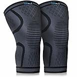 economico -ginocchiera a compressione (confezione da 2) - ginocchiera antidolorifica - per artrite, acl e mcl - supporto per palestra, corsa, allenamento e sport - per uomini e donne (nero, m)