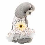 economico -vestiti per cani margherita fiore garza tutu cane vestito gilet abbigliamento gonna vestiti pet cucciolo compleanno principessa vestiti per cani e gatti