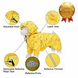 """economico -Acquista la nuova nuvola riflettente da 20 """"stampa un impermeabile leggero impermeabile per cani con cappuccio& buco per imbracatura, giallo girasole, giacca antipioggia per esterni 2 gambe per"""