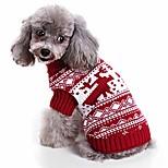 economico -inverno animale domestico natale renne abbigliamento gatto cane maglione lavorato a maglia costume festa di halloween festival 1xl