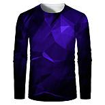 abordables -Homme T-shirt Impression 3D Graphique 3D Print Grandes Tailles Imprimé Manches Longues Quotidien Hauts Elégant Exagéré Noir