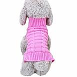 economico -maglione caldo classico della maglieria del cane da compagnia, maglione a collo alto lavorato a maglia in pile, cappotto della camicia, vestiti del gatto del cane da compagnia abbigliamento in costume