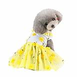 economico -vestito da ragazza per cani di piccola taglia vestiti per animali domestici tutu di pizzo gonna con fiocco gonna per cuccioli di gatto