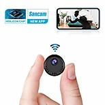abordables -Mini caméra WiFi 4K Full HD sans fil avec détection de mouvement Super Night Vision et visualisation à distance de l'application téléphonique pour la sécurité à domicile