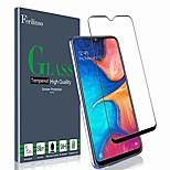 abordables -verre trempé pour protecteur d'écran Samsung Galaxy A20, [colle complète] [couverture complète] étui en verre trempé film protecteur (noir)