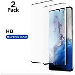 abordables -Pack de 2 Protecteurs d'écran pour Samsung Galaxy S21 Ultra S21 + Verre Trempé Dureté 9H Couverture Complète 3D HD Protecteur D'écran De Déverrouillage D'empreintes Digitales Pour S20 Ultra S20 S10 Lite S9 Plus
