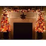 economico -1.5 m 10 luci led foglie d'acero ghirlanda luci fata a led per decorazioni natalizie autunno stringa luce festosa fai da te halloween decor