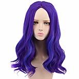 abordables -Yuehong longue perruque violette bouclée perruques de fête pour les femmes cosplay costume Halloween perruques de cheveux (adultes)