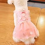 economico -vestito da cucciolo di cane, vestito da tutu di pizzo 2019 nuovo vestito da festa imbracatura per cani gonna di fiori vestiti da principessa gatto da compagnia per vestiti di abbigliamento per cani di