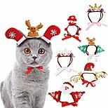 economico -copricapo natalizio per animali domestici, 7 confezioni pupazzo di neve santa elk corona a forma di fascia copricapo a cerchio di natale copricapo per cani gatti capodanno festa decorazione del